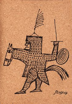 Saul Steinberg on cork (? Saul Steinberg, Ink In Water, The New Yorker, You Draw, Keep Calm, Texture Art, Graphic Illustration, Illustrators, Art Drawings
