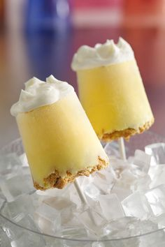 Have some Yoplait Original 99% Fat Free lemon burst yogurt in your fridge? Use it to make these cool, 7-ingredient lemon meringue pops at home. Hot summer days call for refreshing, decadent treats on the patio!