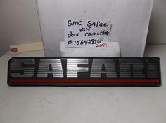 GMC Safari Van DOOR FENDER EMBLEM logo badge nameplate oem 2054 #GMC