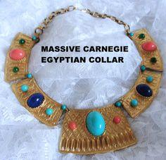 RARE Massive Hattie Carnegie Egyptian Collar | eBay