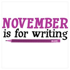 November is for writing because of NaNoWriMo. But... can it also be for lovers? Because of the autumn cuddles? No?
