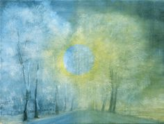 Forest Eclips  Abstract by AmaliaHaasArt on Etsy