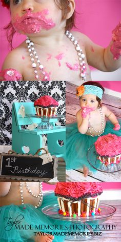 1st Birthday Cake Smash Photo Shoot  this is probably the cutest little girl ive ever seen<3