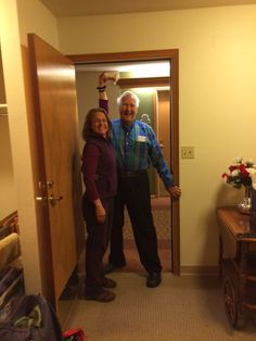 Blessing Dad as he enters his new home with a lotta LOVE with the Love Shaker!