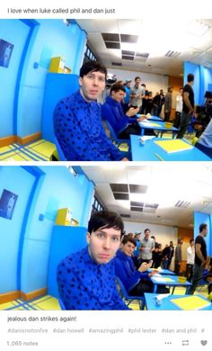 I think it's just cute that Dan looked around when phils name was called
