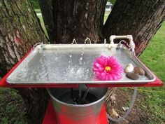 making a hummingbird water and bathing tray out of a cookie sheet, home maintenance repairs, pets animals, ponds water features