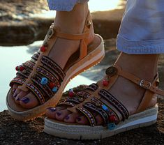 "Anti slippery Leather sandals, Ancient Greek Sandals, Soft Sole, Women's Shoes,Boheme Sandals, Greek Chic, ""Paros"""
