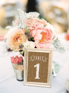 Burlap Table Numbers Printable 4x6 PDF Instant Download Rustic Shabby Chic Woodland Numbers 1-12