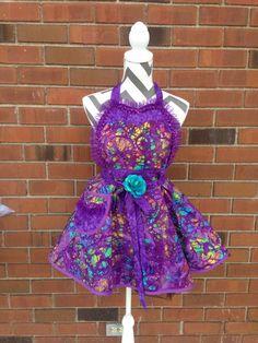 Beautiful Retro Purple Dream Apron (343) by MothersApronString on Etsy