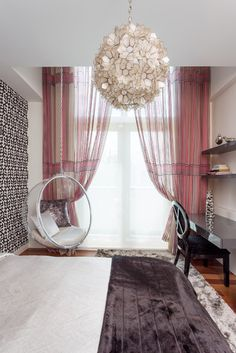 not that I'll ever have a teenage daughter, but if I did--  South Miami Townhouse - eclectic - bedroom - miami - Touzet Studio