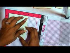 NEW MISTI Stamping Tool using with Stampin' Up! Stamps - YouTube