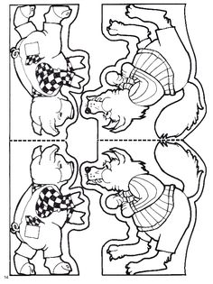 3 Little Pigs Activities, Fairy Tale Activities, Rhyming Activities, Library Activities, Three Little Pigs Story, Pop Up Karten, School Coloring Pages, Petite Section, Early Literacy