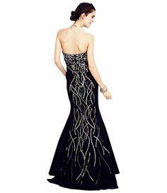 Jump beaded sweetheart ball gown  Available at Dillards.com #Dillards
