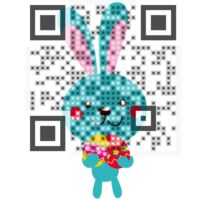 The First Easter Visual QR Code designed for the GOLDEN EGG contest. Create yours at visualead.com