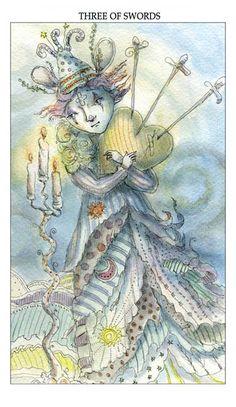 Three of Swords - Paulina Cassidy's Joie de Vivres Tarot Deck