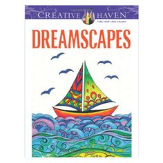 Dreamscapes Coloring Book. Unique Adult Coloring Books, office toys, supplies, and products at www.officeplayground.com use code P10 for 10% off