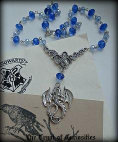Skyrim frost dragon inspired crystal by TheCryptOfCuriositie, £12.99