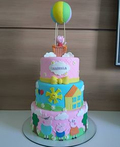 Niver de maju Throw the party that's straightforward, fashionable, plus outstanding! Very little piggies will Peppa Pig Birthday Outfit, Pig Birthday Cakes, Girl 2nd Birthday, Birthday Bash, Tortas Peppa Pig, Peppa Pig Cakes, Girl Cakes, Party Cakes, Birthday Party Decorations