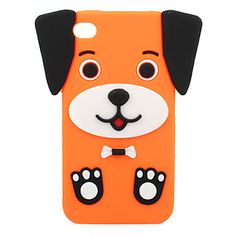 Cuties Puppy Silicone Case for iPhone 4/4S - Cute Cartoon iPhone 4/4S Cases - iPhone 4/4S Cases