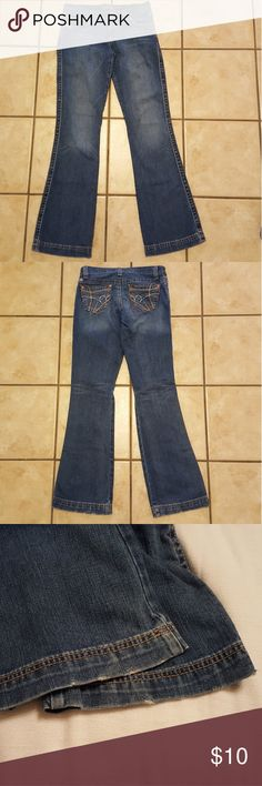 """Cruel Girl Krista slim bootcut jeans Cruel Girl Krista slim bootcut jeans. Good condition except for some wear at the bottom hems of the leg openings. See last pic. 100% cotton. Inseam about 33.5"""".  *Please review the photos and read the full description. You are always welcome to ask me questions to make sure the item is what you expect. Cruel Girl Jeans"""