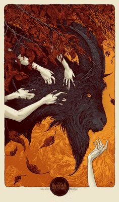The Witch VVitch Sam Wolfe Connelly Movie Art Print Poster Mondo Horror Mystery Arte Horror, Horror Art, Tag Art, Dark Fantasy, Fantasy Art, Black Phillip, Satanic Art, Arte Obscura, Occult Art