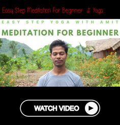 Easy Step Meditation for Beginner Power Of Meditation, Meditation Videos, Meditation For Beginners, Daily Meditation, Mindfulness Meditation, Yoga For Stress Relief, Yoga Youtube, Yoga Courses, Online Yoga Classes