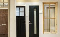 Home Retrofit & Renovation Company RENOVA. A selection of doors and windows at our showroom, Ireland www.renova.ie