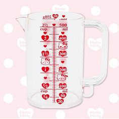 Eight Heya] 0101I LOVE HELLO KITTY series the kitchen meters cup measuring cup - Taobao