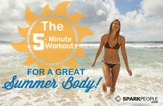 5 Minutes (Just 3 Multitasking Moves a Day) to Look Great in Your Swimsuit! #summer #workout #bikini | via @SparkPeople