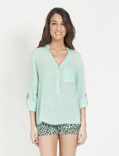 Camisa Marinella Mint - C.Serrano - Tendencias para Fashionistas