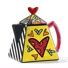 """Britto """"Heart"""" Teapot"""
