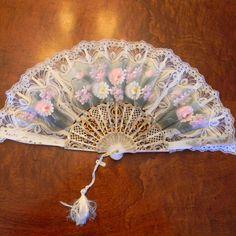 Vintage Ladies Hand Held Fan Spanish Style by momsfavoriteshop