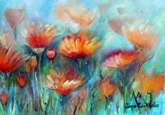 oil on canvas Watercolor Cards, Canvas, Spring Flowers, Paintings, Oil, Paint, Painting Art, Painting, Canvases