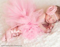 Baby Ballerina Set/ Newborn Ballerina/ Baby Dancer/ Dancer Newborn Prop/ Ballet Slippers and Rose Headband by WillowsGarden on Etsy https://www.etsy.com/listing/127111355/baby-ballerina-set-newborn-ballerina
