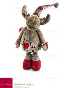 Allegro Peluche Renna Natale Villa d'Este perfetto sia come idea regalo per grandi e piccini sia come decorazione natalizia anche per il camino. Scopri le eccezionali promozioni natalizie su Mobilia Store!