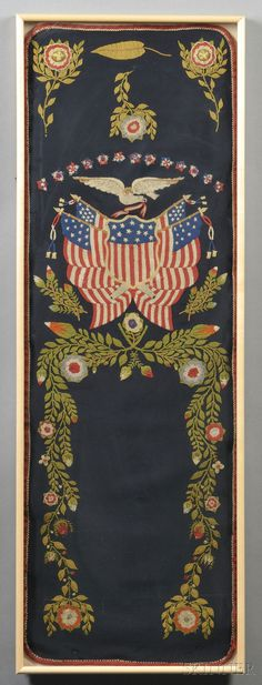 Sailor-made Patriotic Needlework, late 19th/early 20th century