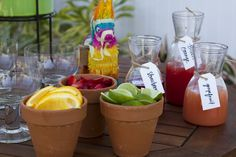 Mexican Fiesta Brunch Margarita Bar by @Events Uncorked // @LPF Mag Issue #3