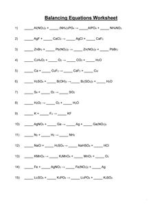Balancing Equation Worksheet with Answers Fresh 49 Balancing Chemical Equations Worksheets [with Answers] Chemistry Worksheets, Verb Worksheets, School Worksheets, Worksheets For Kids, Printable Worksheets, Chemistry Notes, Balancing Equations, Algebra Equations, Chemical Equation