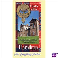 Clan Hamilton Tartan Clan Crest 2013 Diary Small Pocket Notebook
