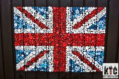 Great British Button Biathlon 1 - Handmade flag whole by Knit the City, via Flickr