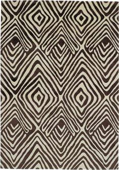 Tribal Diamond Rug by Diane Von Furstenberg for The Rug Company.  100 knot.  Tibetan Wool.