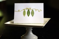 sweet pea baby cards (shower ideas)