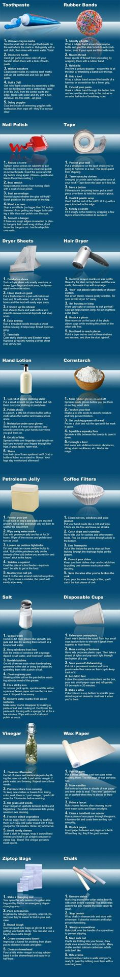 Great list of 2nd uses for household objects!