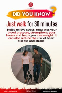 Benefits Of Walking Daily, 10000 Steps, Healthy Exercise, Health Facts, Heart Disease, Blood Pressure, How To Relieve Stress, Did You Know, Healthy Life
