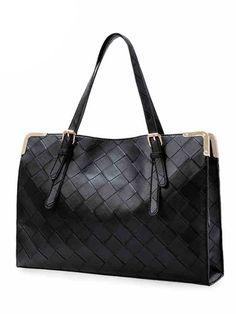 Vintage Western Checkerboard Plaid Solid Color Handbags For Women