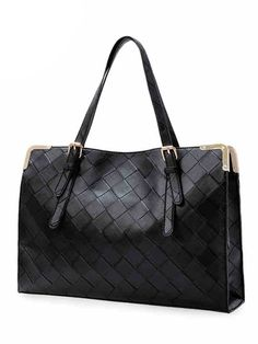 Vintage Western Checkerboard Plaid Solid Color Handbags For Women