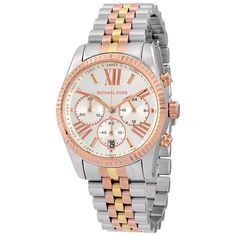 $132.99 Jomasshop Michael Kors Lexington Chronograph Tri-Tone Ladies Watch MK5735