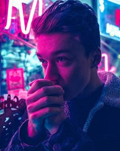 'We are entering the Dark Ages...but this time there will be lots of NEON, and screen savers, and street LIGHTS' /@shayparesh | O M Goodness! Gorgeous photo of Haz ♡