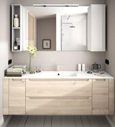 Muebles de baño a medida Monterrey - Banium Bathroom Design Small, Bathroom Interior Design, Modern Bathroom, Bad Inspiration, Bathroom Inspiration, Bathroom Wall Decor, Bathroom Furniture, Washbasin Design, Dark Bathrooms