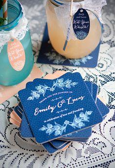 Budget-Saving Printables for Your Wedding | Bridal Musings Wedding Blog 1017 Coasters.  Wedding favors